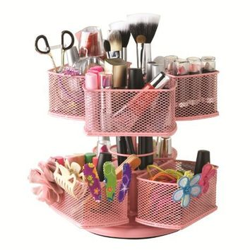 Nifty Cosmetic Organizing Carousel Pink From Amazon