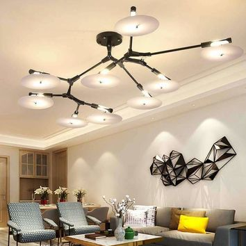 Nordic creative art modern G9 LED ceiling light circular Aluminum Branch shape ceiling lamp