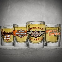 Four Classic Shot Glasses