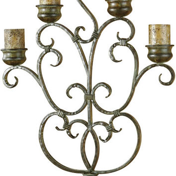 "0-084741>38""h Juliana Candelabra Red And Bronze"