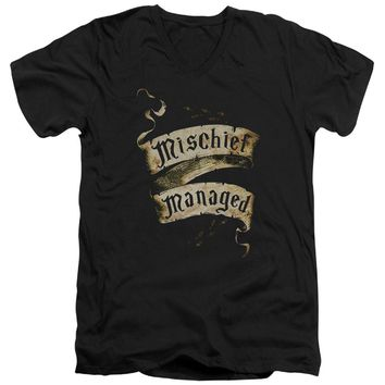 Harry Potter - Mischief Managed Short Sleeve Adult V Neck Shirt Officially Licensed T-Shirt