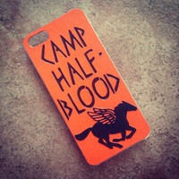 "HANDMADE  ""Percy Jackson"" Inspired Camp Half Blood iPhone 4 / 4s Phone Case  cover TheSorcerersPhone The Sorcerers Phone  5c 5s Half-Blood"
