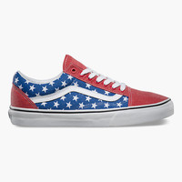 Vans Van Doren Old Skool Shoes Red/White/Blue  In Sizes