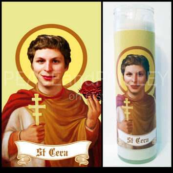 Prayer Candle, Saint Cera, Pop Culture, Kitsch, Religious Humor, Celebrity Saint