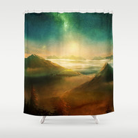 Into the trees Shower Curtain by Viviana Gonzalez