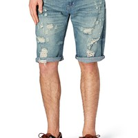 Destroyed Rolled Cuff Jean Short