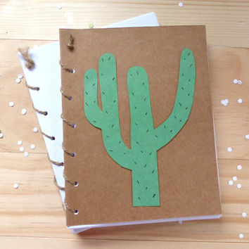 Cactus Notebook | Plant Spiral Notebook Journal