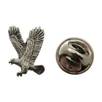 Flying Eagle Mini Pin ~ Antiqued Pewter ~ Miniature Lapel Pin