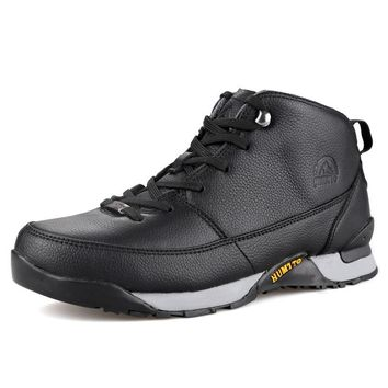 Mens Genuine Leather Outdoor Lace-Up Camping/Climbing Hunting Boots
