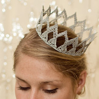 Silver Princess Fairytale Lace Crown