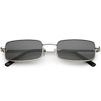 Retro 1990's Fashion Rectangle Flat Lens Sunglasses C598