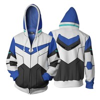 Voltron:Legendary Defender Lance Hoodie 2018 Winter 3D Printed Zipper Hooded Jacket Men's Casual Sweatshirt Cool Zip Up Hoody