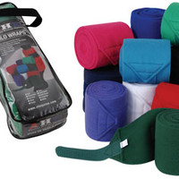 Saddles Tack Horse Supplies - ChickSaddlery.com Fleece Polo Wraps With Laundry Bag <>