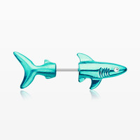 A Pair of Colorline Shark Attack Fake Taper Earring