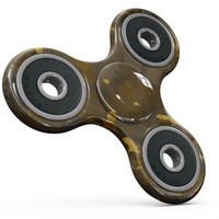 Abstract Dark Gray and Golden Specks Full-Body Fidget Spinner Skin-Kit