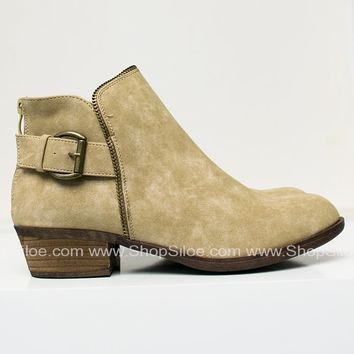 Leo Zipper Taupe Booties