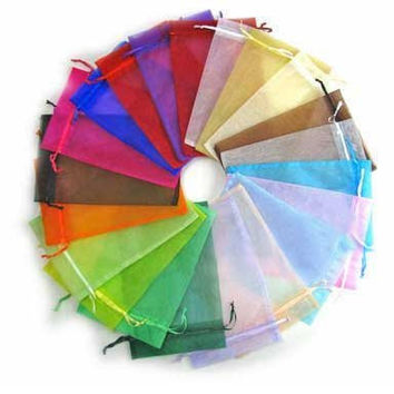 Yansanido 13x18cm /5x7 Inches 100pcs Beautiful 10 Color Organza Drawstring Pouches Jewelry Party Wedding Favor Gift Bags Pouch Bags (10 Colors 5*7inches)