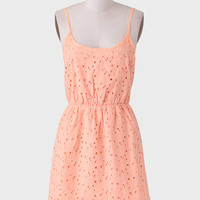 Creamsicle Eyelet Dress