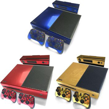 New Hottest Full Set Glossy PVC Decal Sticker Skin Protector For XBOX ONE Console+Controller