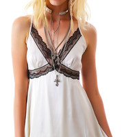 Ark & Co. Sweet Cream Lace Cami Dress