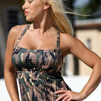 Camo Full Figure Tankini Plus