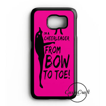 Cheers Cheerleader Bow To Toe Samsung Galaxy S6 Edge Plus Case