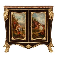 French 19th Century Louis XV Style Cabinet Attributed to Henri Dasson
