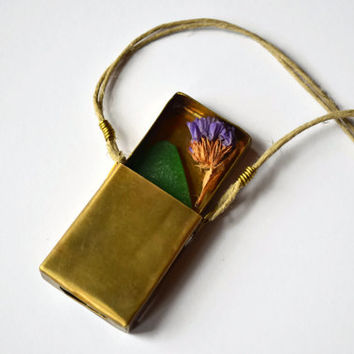 Brass Locket Box, Metal Matchbox