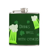 Funny St. Patrick's Day Drinks Well Flask