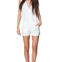 Chiffon Romper - White from Very J at ShopRoxx.com