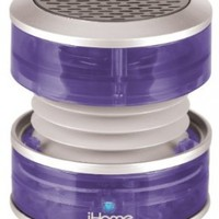 iHome 3.5mm Aux Portable Speaker (Purple Translucent)