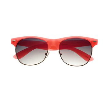 Colorful Neon Retro Vintage Style Sunglasses W1270