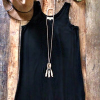 Piko Tank Dress - Black