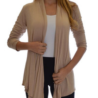 Women's Flyway Taupe Cardigan