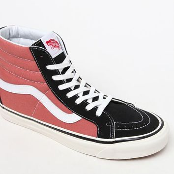 Vans Anaheim Factory Sk8-Hi 38 DX Black & Orange Shoes at PacSun.com