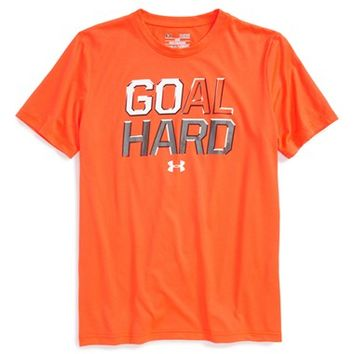 Boy's Under Armour 'Goal Hard' HeatGear Graphic T-Shirt,