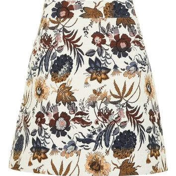 Pressed Flower A-Line Skirt - Skirts - Clothing