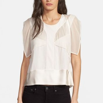 Women's IRO 'Bessie' Sheer Panel Top,