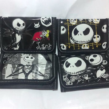 4pcs Nightmare Before christmas cartoon children folding Zero wallet Purses bag gifts  Watch Boxes   A-Y785