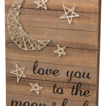 Primitives by Kathy 'Love You to the Moon & Back' String Art Box Sign | Nordstrom