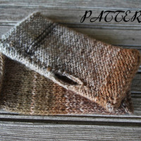Fingerless Gloves Pattern PDF - Wrist Warmers Knit Pattern - Knit Flat - Reversable - Lion Brand Amazing Yarn