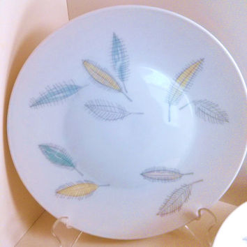 Lot of Vintage Bunte Blatter By Raymond Loewy Rosenthal Continental Mid Century Modern 1950's Porcelain Salad Plates  Form 2000