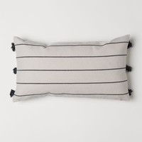 Jacquard-weave cushion cover - Natural white - Home All | H&M US