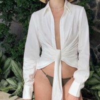 New hot sell sexy simple fashion bow tie tie top