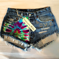 Vintage Levi's high waisted Daisy Duke destroyed by jeansgonewild