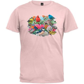 Birds for all Seasons Light Pink T-Shirt