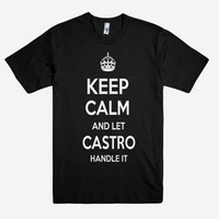 Keep Calm and let CASTRO Handle it Personalized Name T-Shirt ln