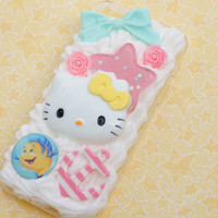 little mermaid and hello kitty iphone 5 decoden case
