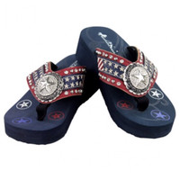 "2016 ""American Pride"" Montana West Collection Flip Flops"