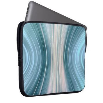 Aqua Teal Futuristic Driving Dreams Laptop Sleeve